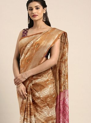 Classic Saree Weaving Art Silk in Mustard