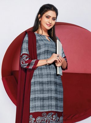 Grey Casual Salwar Suits
