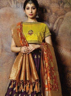 Cord Jacquard Silk Designer Lehenga Choli