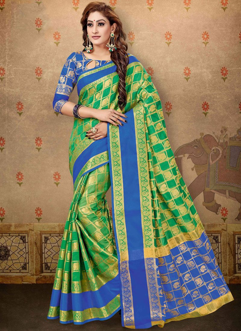 Cotton Abstract Print Designer Saree