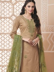 Cotton Beige Salwar Suit