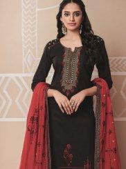 Cotton Black Embroidered Salwar Kameez