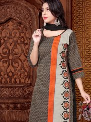 Cotton   Black Print Readymade Suit
