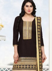 Cotton Black Punjabi Suit