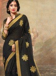 Cotton Black Trendy Saree
