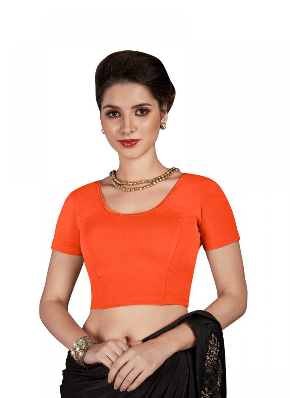 Cotton Blouse in Orange