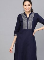 Cotton Blue Casual Kurti