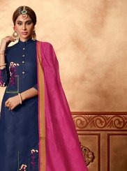 Cotton Blue Churidar Suit