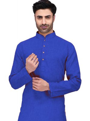 Cotton Blue Kurta