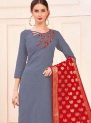 Cotton Blue Salwar Suit