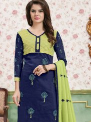 Cotton   Border Churidar Salwar Suit