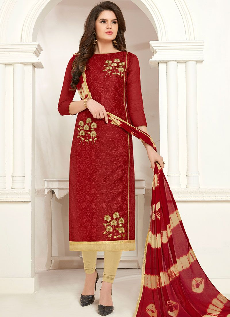 Cotton Casual Churidar Salwar Suit