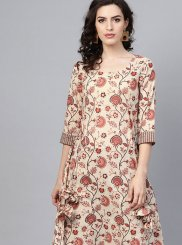 Cotton Casual Kurti in Multi Colour