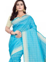 Cotton Casual Saree in Blue