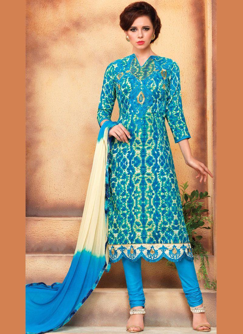 Cotton Churidar Designer Suit