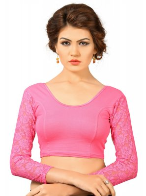 Cotton Designer Blouse in Pink