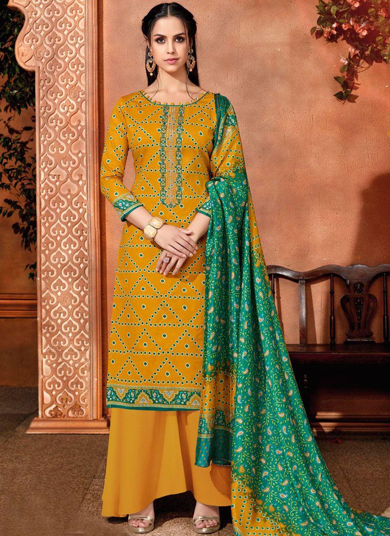 Cotton Designer Palazzo Salwar Suit