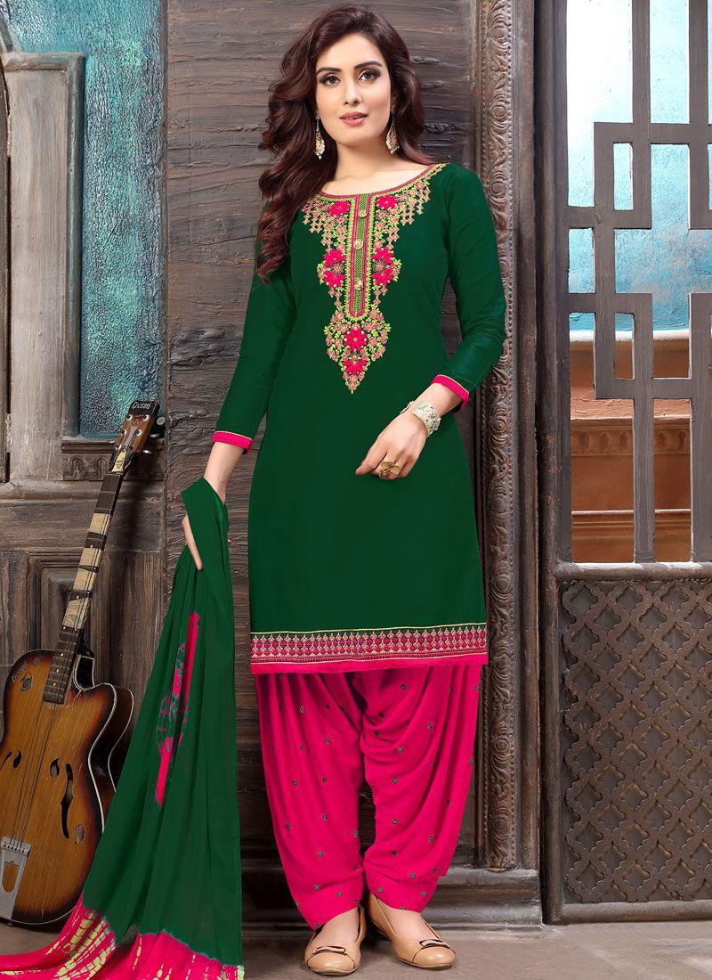 Cotton Designer Patiala Suit