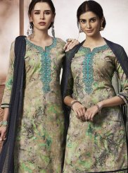 Cotton Designer Salwar Kameez in Multi Colour
