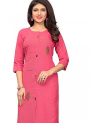 Cotton Embroidered Casual Kurti