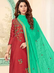 Cotton Embroidered Churidar Designer Suit