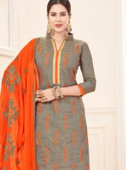 Cotton Embroidered Churidar Salwar Suit
