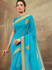 Cotton Embroidered Designer Saree