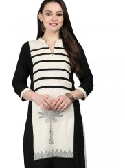 Cotton Fancy Black Casual Kurti