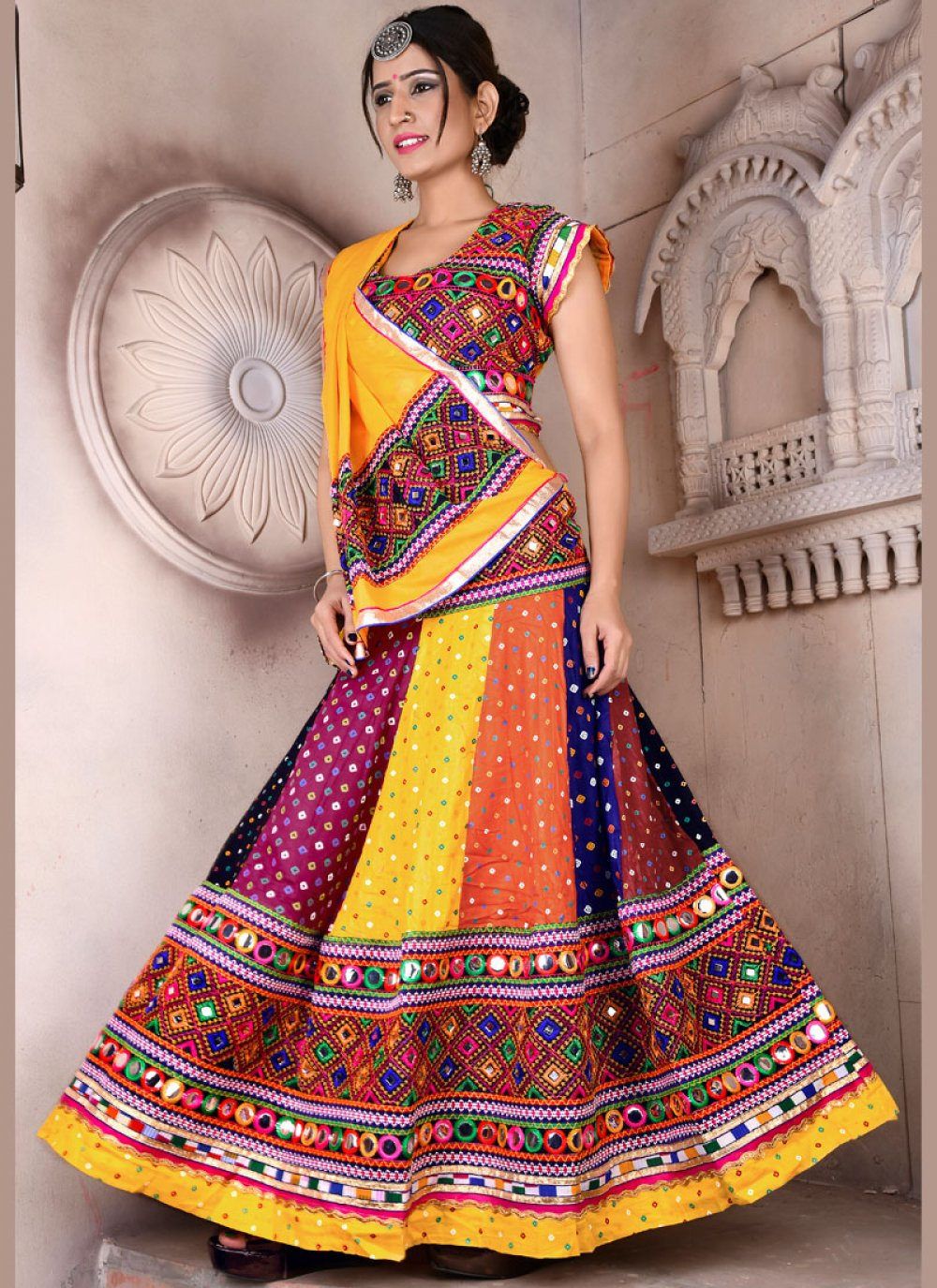 Cotton Fancy Lehenga Choli in Multi Colour