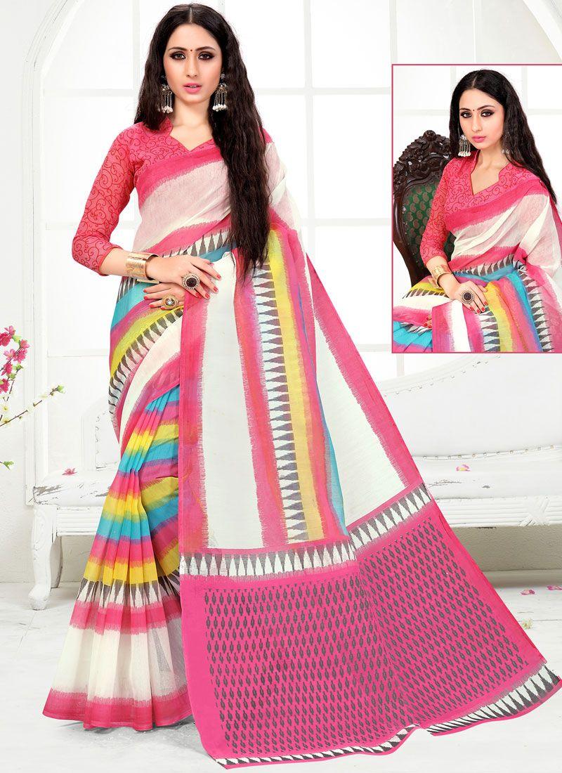 Cotton Festival Printed Saree