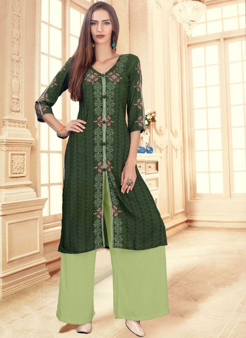 Cotton Festival Trendy Palazzo Suit
