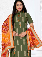 Cotton Green Churidar Designer Suit
