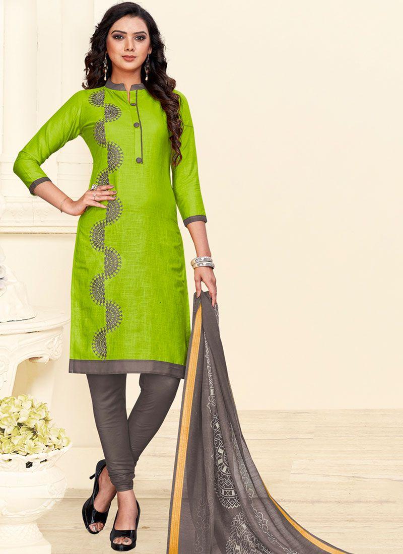 Cotton Green Churidar Suit