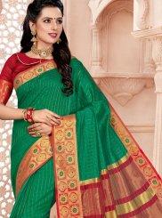 Cotton Green Classic Saree