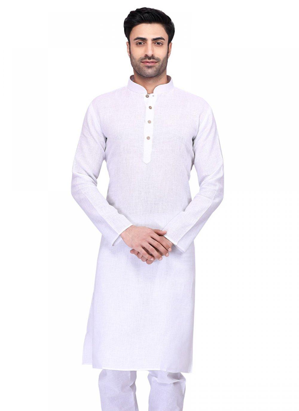 Cotton Kurta in White
