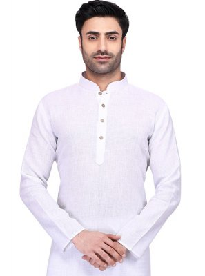 Cotton Kurta in White