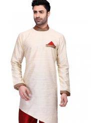 Cotton Kurta Pyjama in Cream