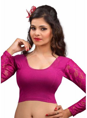 Cotton Magenta Designer Blouse