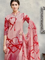 Cotton Maroon Printed Salwar Suit