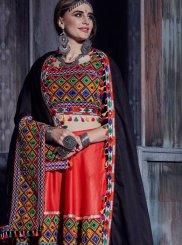 Cotton Mirror Designer Lehenga Choli in Red