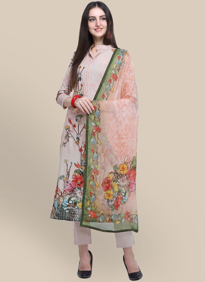 Cotton Multi Colour Abstract Print Designer Suit