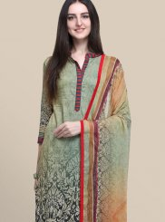 Cotton Multi Colour Abstract Print Designer Suit