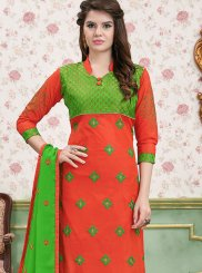 Cotton   Multi Colour Border Churidar Salwar Suit