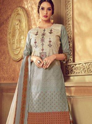 Cotton Multi Colour Digital Print Designer Pakistani Suit