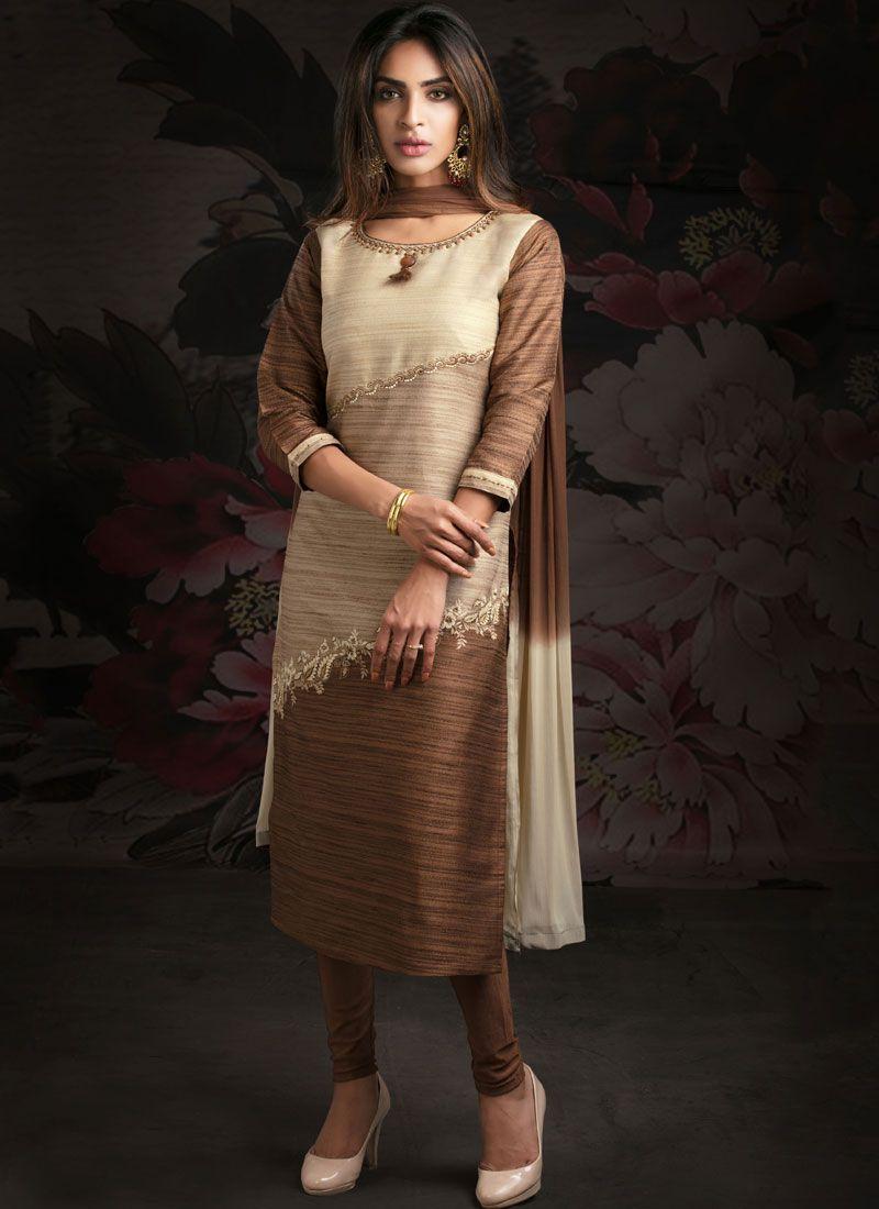 Cotton Multi Colour Katha Designer Salwar Suit
