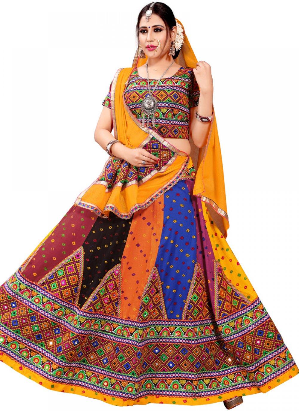 Cotton Multi Colour Lehenga Choli