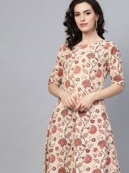 Cotton Multi Colour Print Casual Kurti