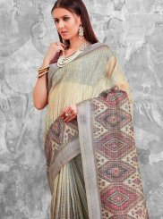 Cotton Multi Colour Printed Saree