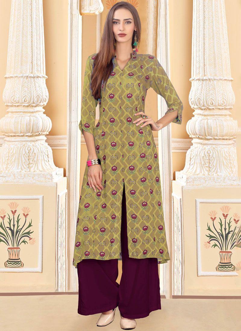 Cotton Party Trendy Palazzo Salwar Suit
