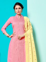 Cotton Pink Designer Suit